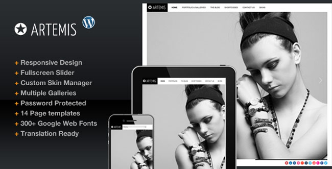 Artemis - Photography Gallery Portfolio Theme