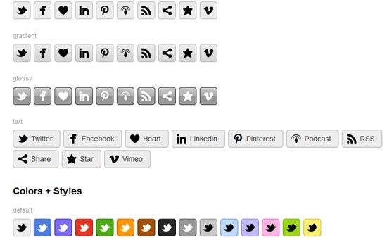 CSS-Social-Buttons