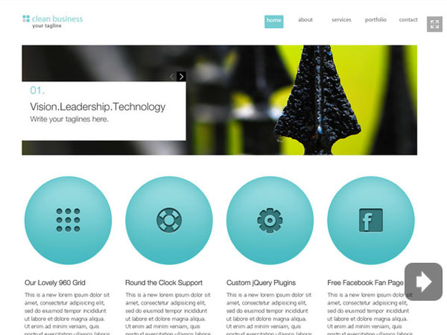 Clean Business Free Website Templates