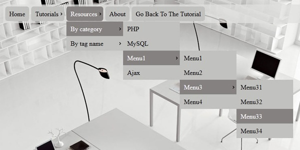 Click-action-Multi-level-CSS3-Dropdown-Menu