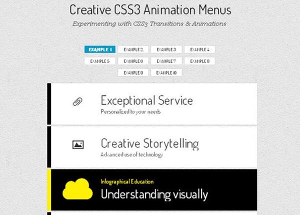 Creative-CSS3-Animation-Menus