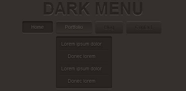 Dark-Menu-Pure-CSS3-Two-Level-Menu