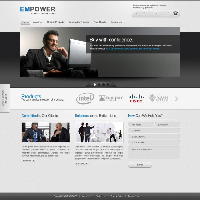 Empower Corporate Website Template