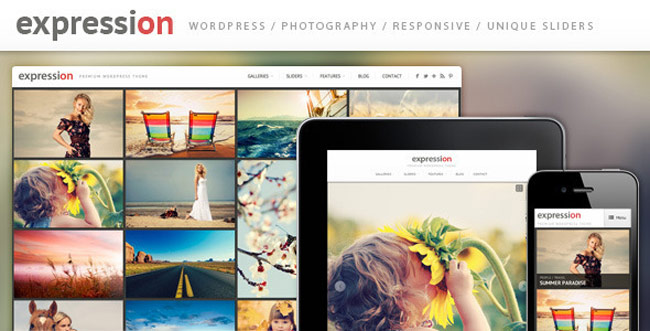 Expression - Photography Responsive WordPress Theme