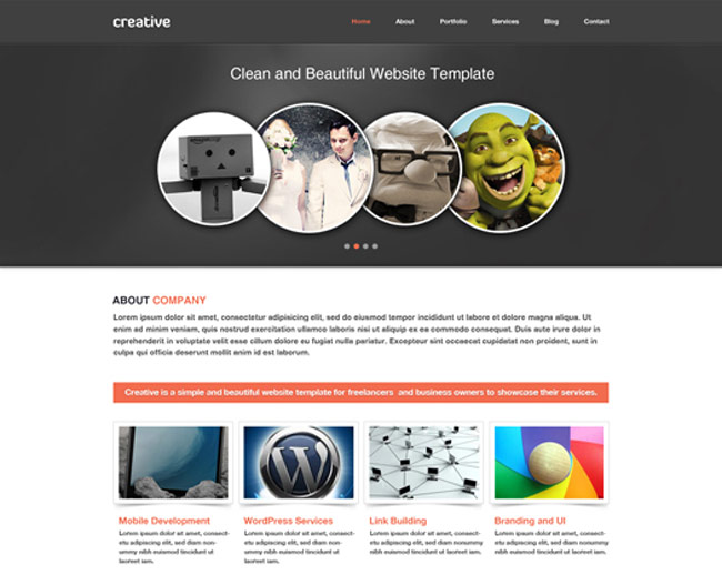 Free Portfolio And Business Website PSD Template