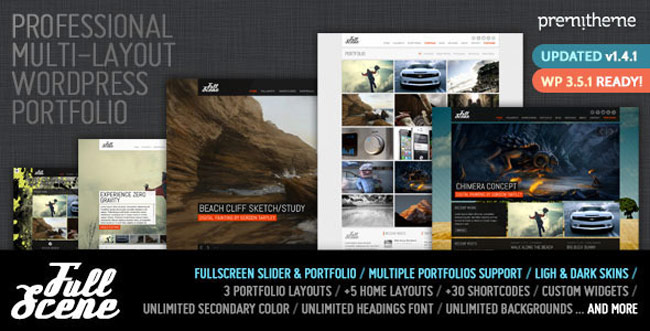 FullScene - Portfolio Photography WP-Theme