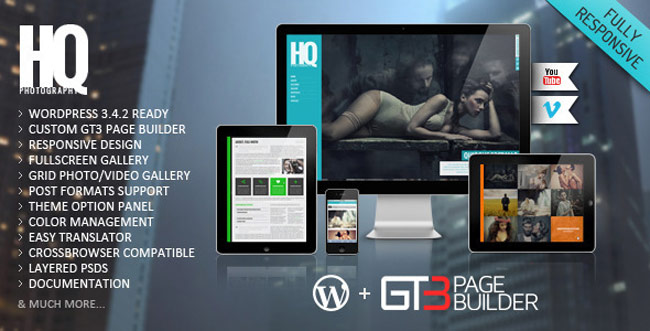 HQ-Photography Responsive WP-Theme