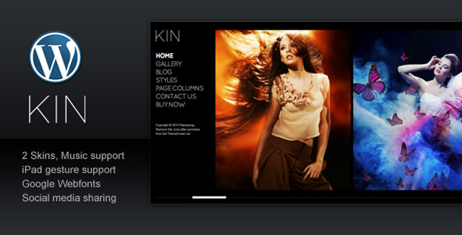 KIN - Minimalist Photography-Wordpress-Template