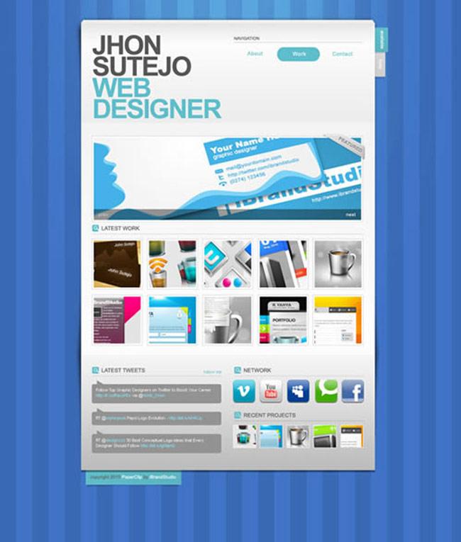 Paper Clip Portfolio PSD