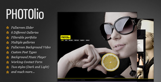 Photolio - Photography--Portfolio WordPress-Theme