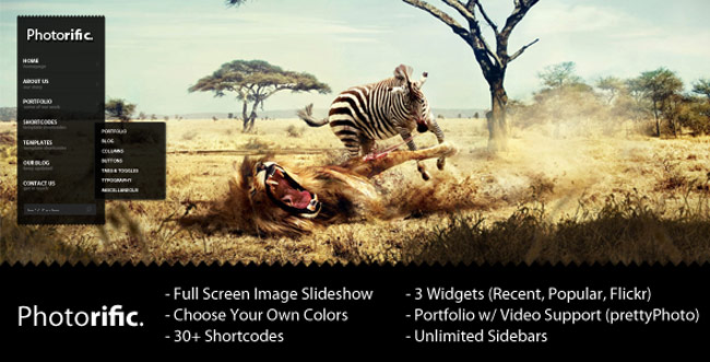 Photorific - Photography WordPress-Theme