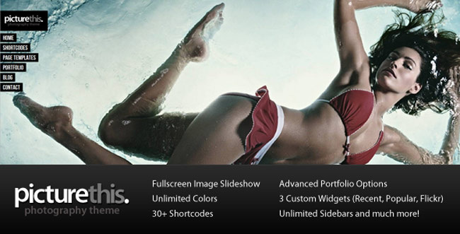 PictureThis - Fullscreen Portfolio WordPress-Theme