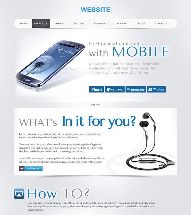 Product - PSD Website Template