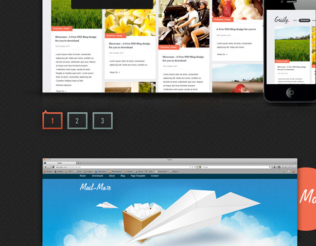 Showcase - A Free Website PSD Template