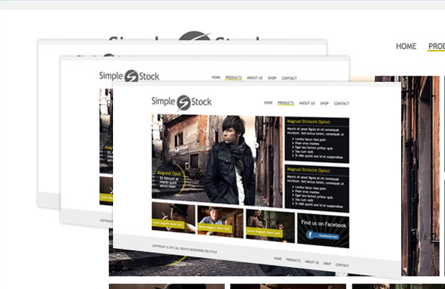 Simple Stock Free Clean Website PSD Template