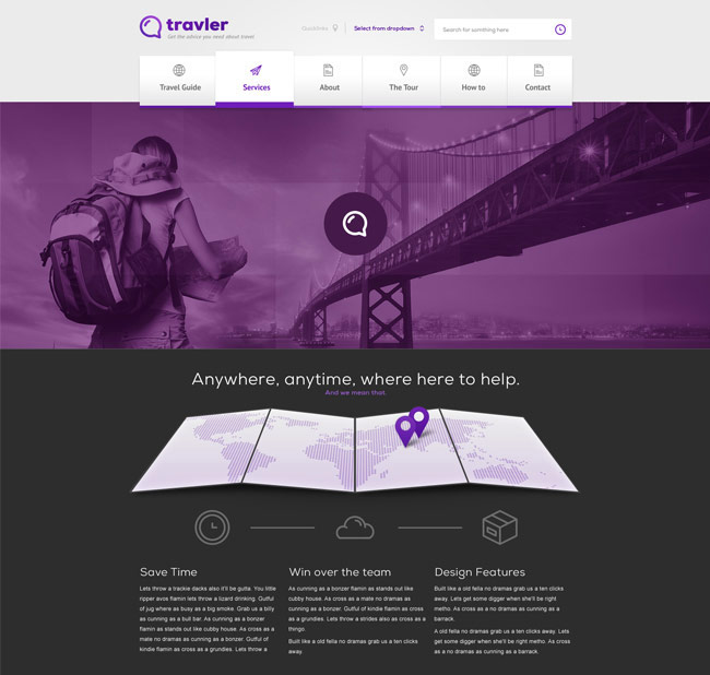 Travler Free PSD Web Design