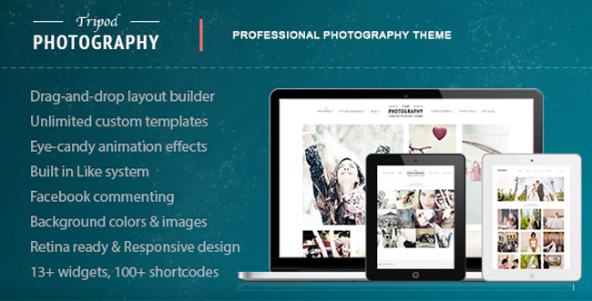 Tripod - Professional WordPress Photography-Theme