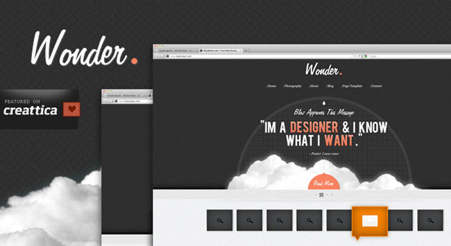 Wonder Theme - A free PSD Site Design
