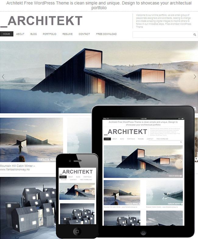 Architekt wordpress theme