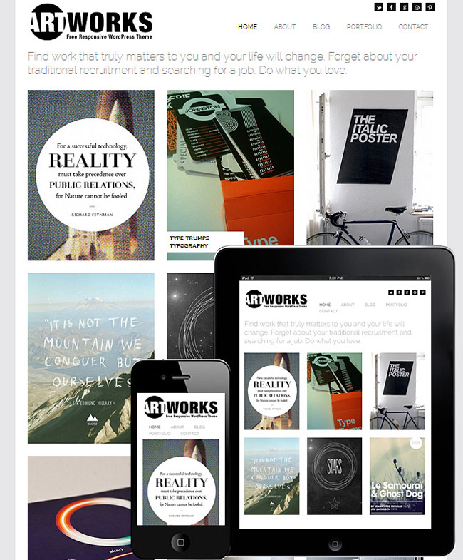 Art works - responsive theme