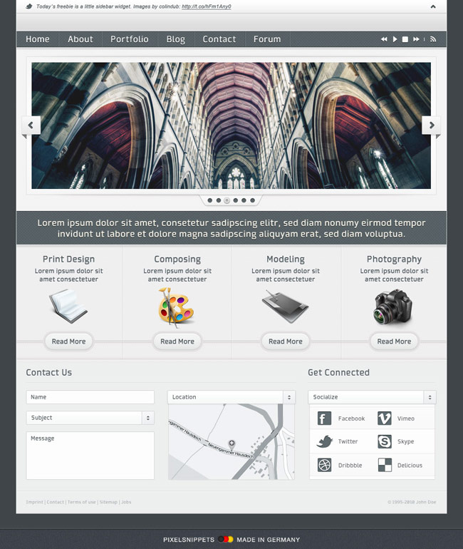 pixels nippets PSD website-template