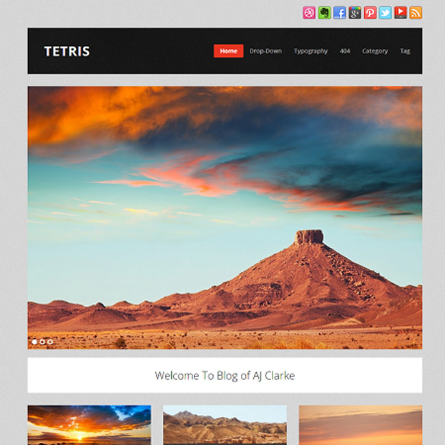 Tetris free wordpress theme