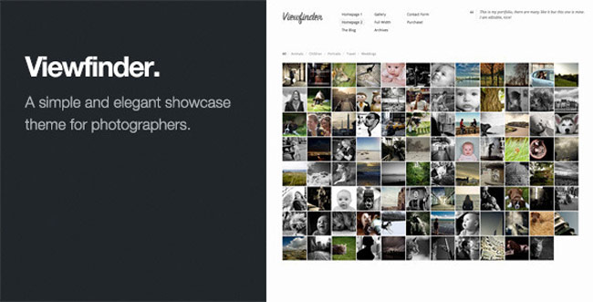 Viewfinder - Photography WordPress-Theme
