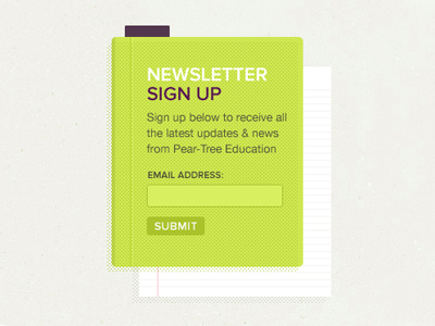 21-green-paper-newsletter-signup-form