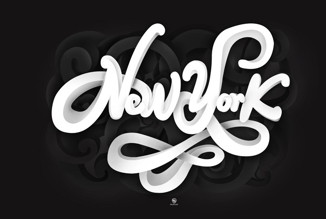 3d-typography-new-york