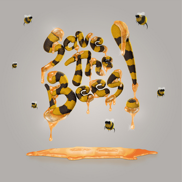 3d-typography-save-the-bees