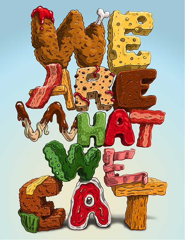 3d-typography-we-are-what-we-eat