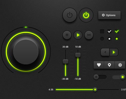 Dark-Music-Player-UI-Kit
