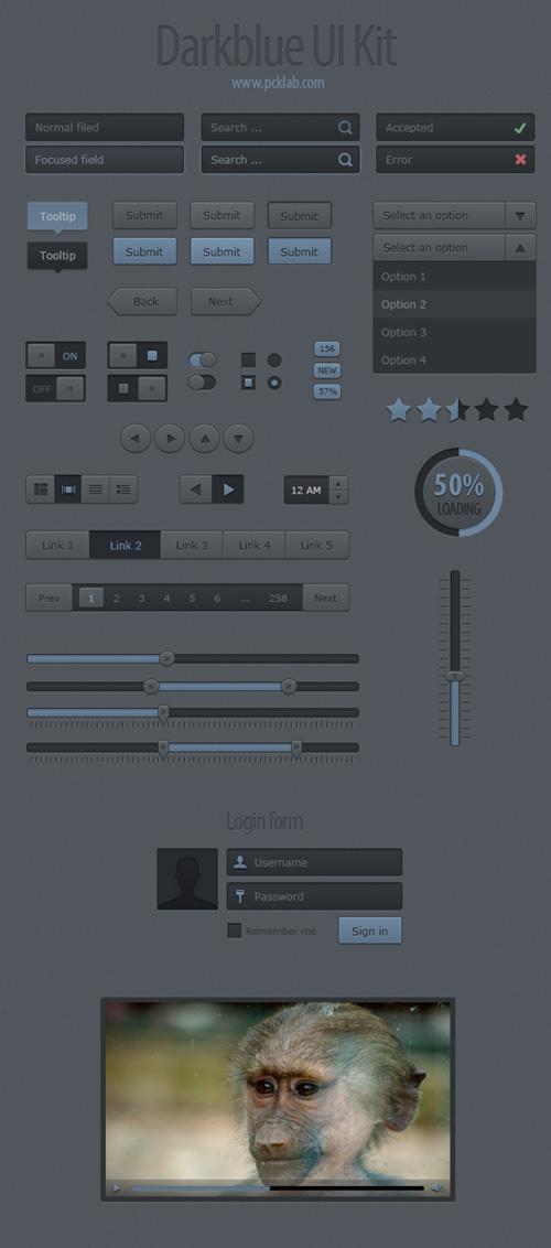 Darkblue-UI-Kit