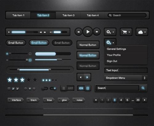 Free-Illuminate-Dark-UI-Kit-PSD