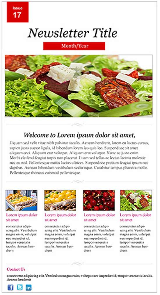 Restaurant-Newsletter