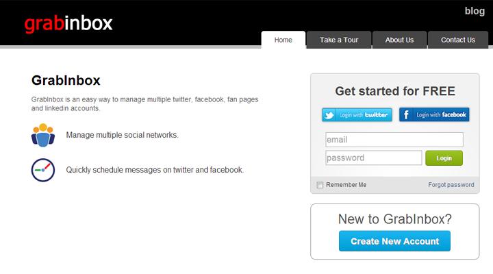 grabinbox-social-media-homepage