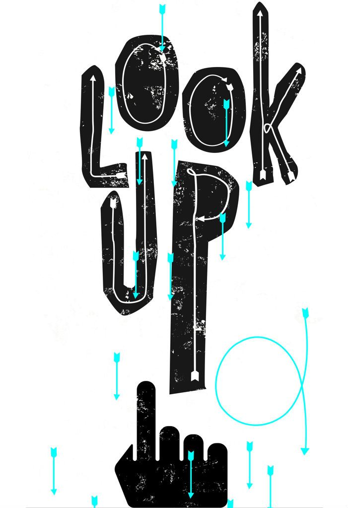 look-up-free-font