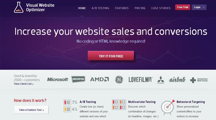 visual-website-optimizer-homepage