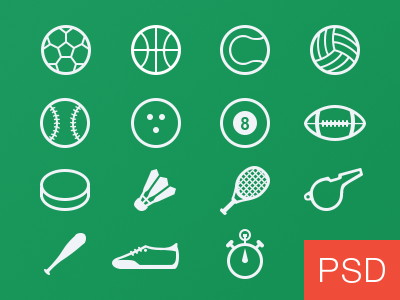 Sport-glyph-vector-icons