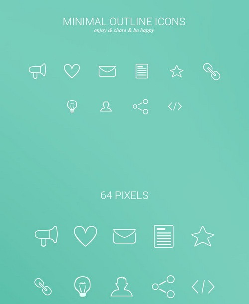 free-psd-Minimal-Outline-Icons