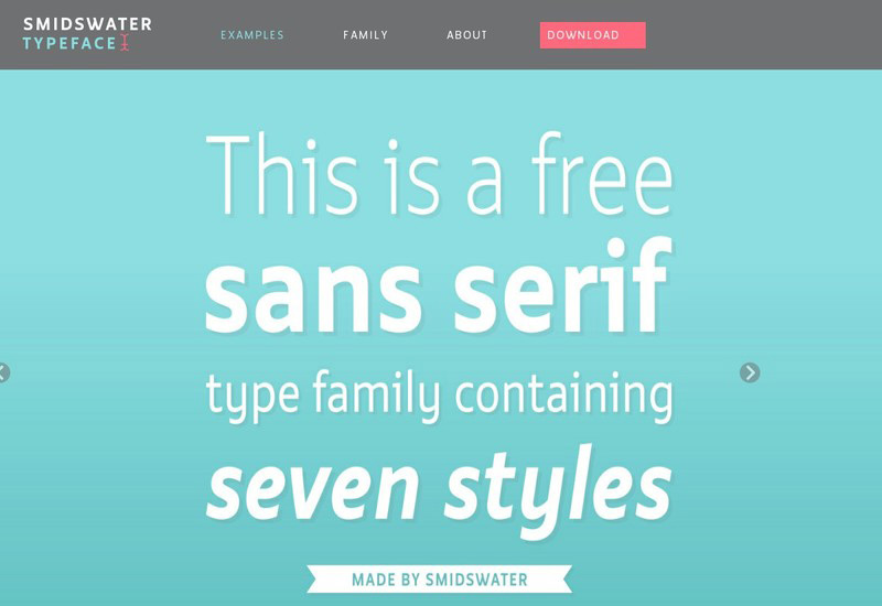 free-smidwater-font-family-7-styles