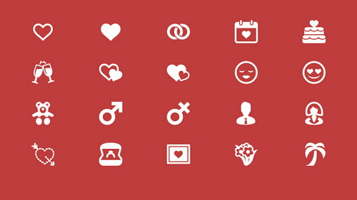 love-and-romance-icons-set
