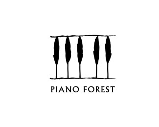 piano-forest-logo-design-inspiration