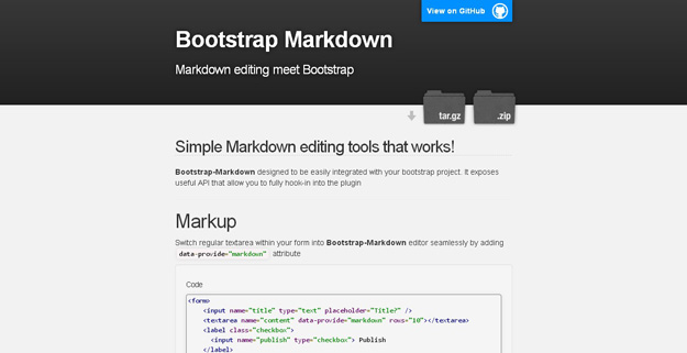 Bootstrap-Markdown1